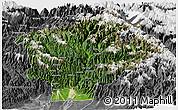 Satellite Panoramic Map of Dibang Valley (Anni), desaturated