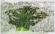 Satellite Panoramic Map of Dibang Valley (Anni), lighten