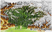 Satellite Panoramic Map of Dibang Valley (Anni), physical outside