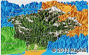 Satellite Panoramic Map of Dibang Valley (Anni), political outside