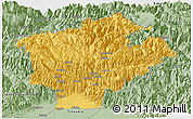Savanna Style Panoramic Map of Dibang Valley (Anni)