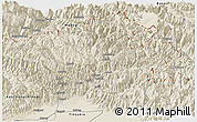 Shaded Relief Panoramic Map of Dibang Valley (Anni)