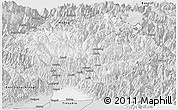 Silver Style Panoramic Map of Dibang Valley (Anni)