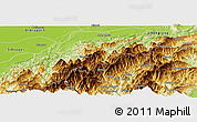 Physical Panoramic Map of Tirap