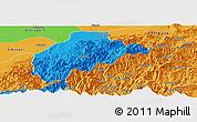 Political Panoramic Map of Tirap