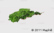 Satellite Panoramic Map of Tirap, cropped outside