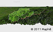 Satellite Panoramic Map of Tirap, darken