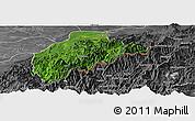 Satellite Panoramic Map of Tirap, desaturated