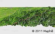 Satellite Panoramic Map of Tirap