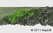Satellite Panoramic Map of Tirap, semi-desaturated