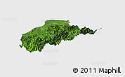 Satellite Panoramic Map of Tirap, single color outside