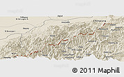 Shaded Relief Panoramic Map of Tirap