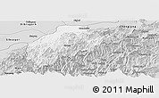 Silver Style Panoramic Map of Tirap