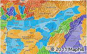 Political Shades 3D Map of Assam