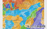Political Shades Map of Assam