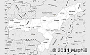 Silver Style Simple Map of Assam