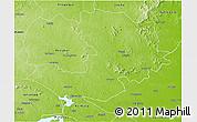 Physical 3D Map of Dumka (Santal Pargana)