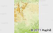 Physical Map of Gumla