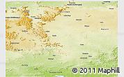 Physical Panoramic Map of Gumla