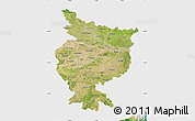 Satellite Map of Bihar, single color outside