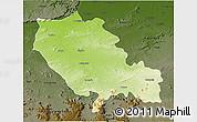 Physical 3D Map of Palamu (Daltenganj), darken