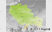Physical 3D Map of Palamu (Daltenganj), desaturated