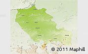 Physical 3D Map of Palamu (Daltenganj), lighten