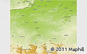 Physical 3D Map of Palamu (Daltenganj)