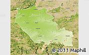 Physical 3D Map of Palamu (Daltenganj), satellite outside