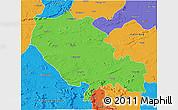 Political 3D Map of Palamu (Daltenganj)