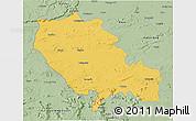 Savanna Style 3D Map of Palamu (Daltenganj)