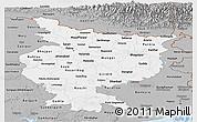 Gray Panoramic Map of Bihar
