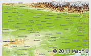 Physical Panoramic Map of Bihar