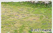 Satellite Panoramic Map of Bihar