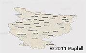 Shaded Relief Panoramic Map of Bihar, cropped outside