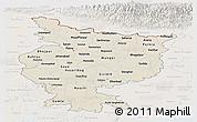 Shaded Relief Panoramic Map of Bihar, lighten