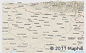 Shaded Relief Panoramic Map of Bihar