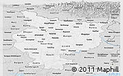 Silver Style Panoramic Map of Bihar