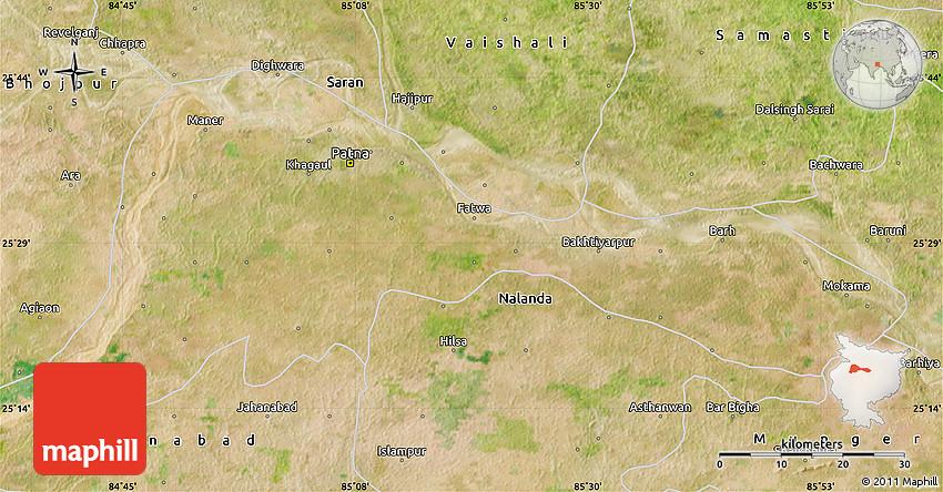 Patna In India Map.Satellite Map Of Patna