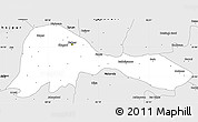 Silver Style Simple Map of Patna