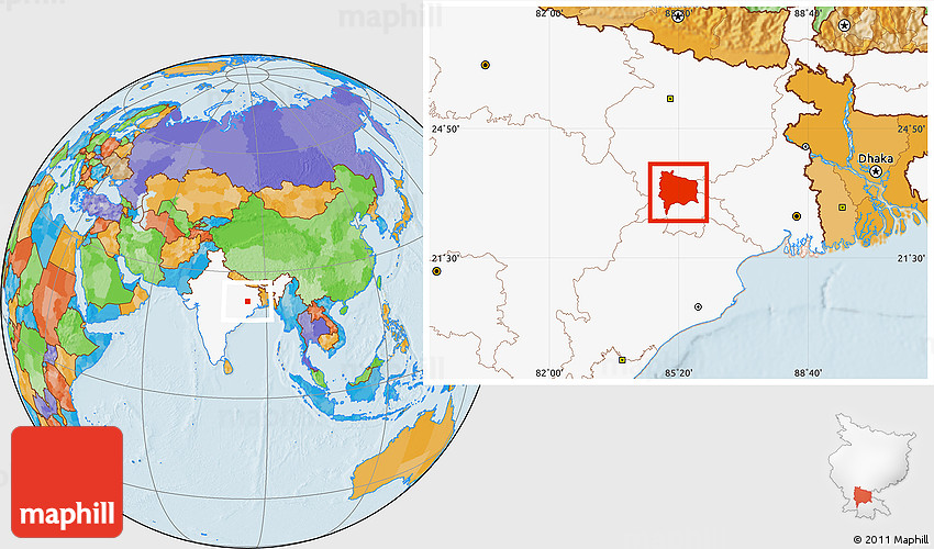 Location Of Ranchi In India Map.Political Location Map Of Ranchi Highlighted Country