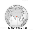 Outline Map of Ranchi