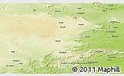Physical Panoramic Map of Ranchi