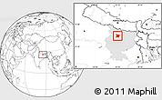 Blank Location Map of Vaishali, highlighted parent region