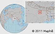 Gray Location Map of Vaishali, hill shading