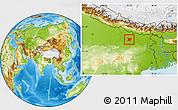 Physical Location Map of Vaishali