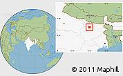 Savanna Style Location Map of Vaishali, highlighted country