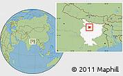Savanna Style Location Map of Vaishali, highlighted parent region