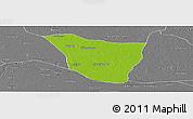 Physical Panoramic Map of Vaishali, desaturated
