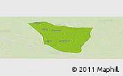 Physical Panoramic Map of Vaishali, lighten